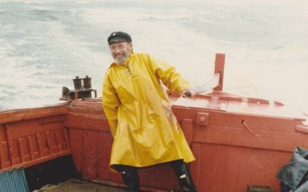 Tony Jordan in service as RNLI Coxswain at Wells-next-the-Sea